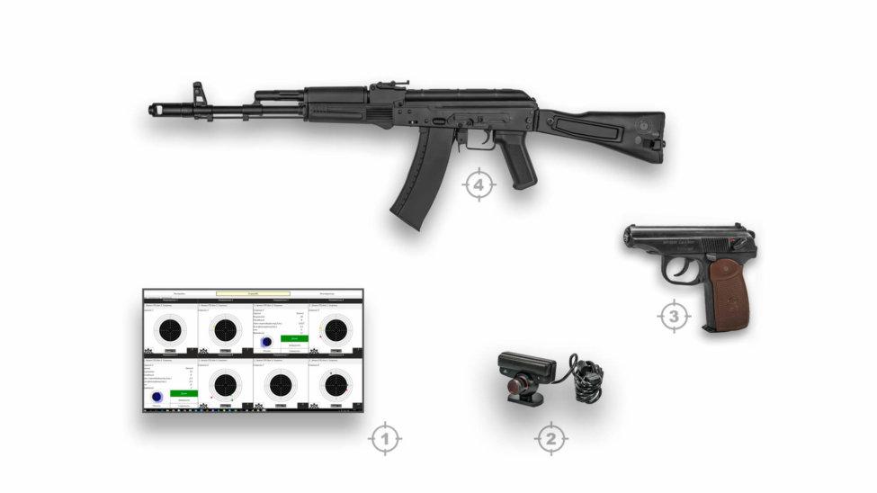 Интерактивный лазерный тир ⋆ ТИР ЭЛЕКТРОН ⋆ комплект3